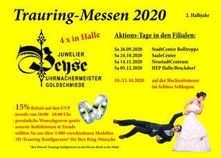 Trauringmessen in Halle (Saale), 2. Halbjahr 2020, Juwelier Beyse