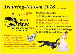 Trauringaktionen Juwelier Beyse, 2. Halbjahr 2018