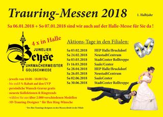 Trauringaktionen Juwelier Beyse, 1. Halbjahr 2018