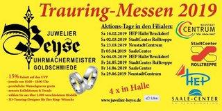 Trauring-Messe in Halle, Juwelier Beyse, 1. Halbjahr 2019